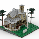 Paviljonki LEGO-malli renderointi