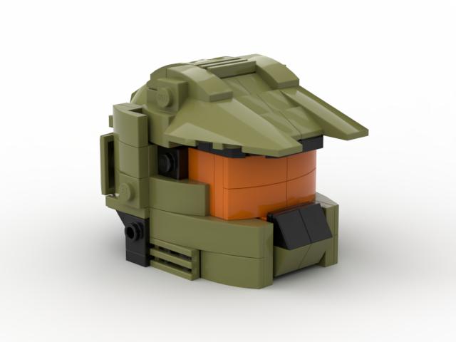 Halo Master Chief John 117 Helmet Brickbuilders Fi Lego