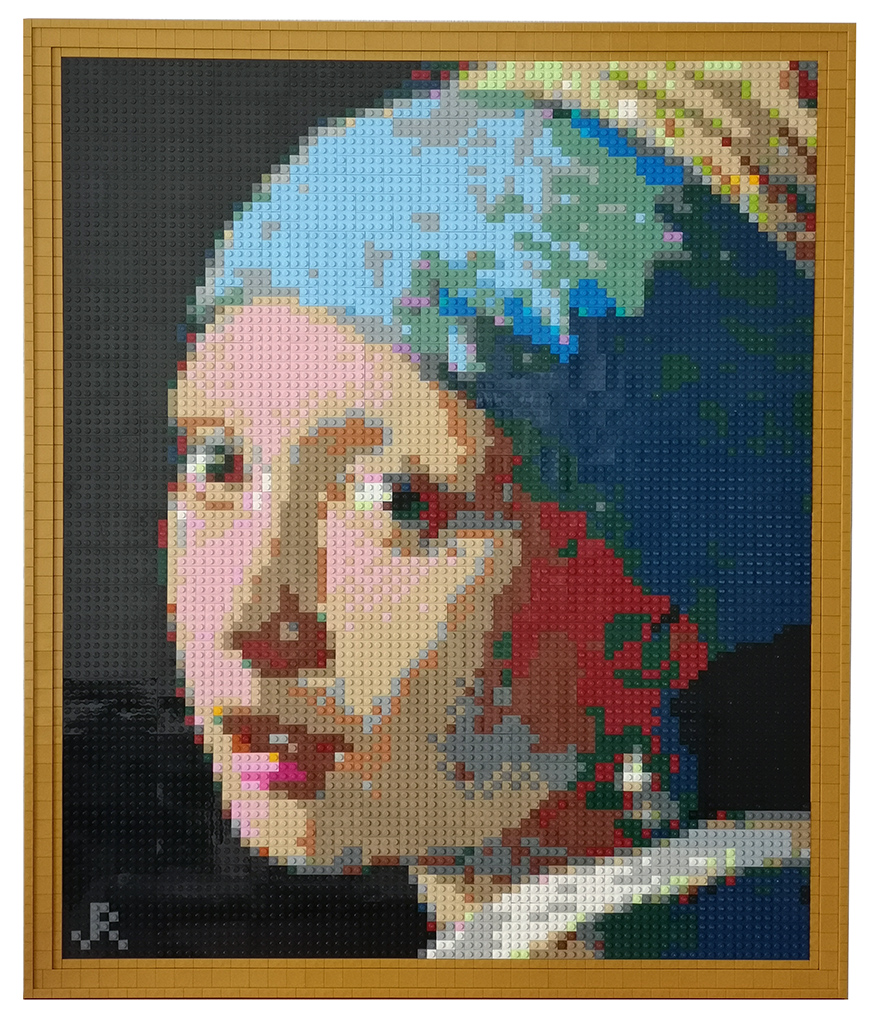 Girl with a Pearl Earring in LEGO